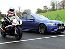 BMW S1000RR vs. BMW M5 V8 - Test in Cadwell Park