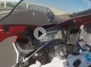 Yamaha vs. Honda. 'Einlauf' bei 300 km/h - Hart aber herzlich