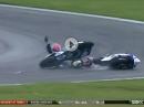 Böser Crash: Sofuoglu vs. Caricasulo vs. Mahias - SSP Lausitzring 2017