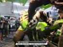 Bol d'Or 2018 Boxenstopp: Finger fliegen lassen bei SCR Kawasaki, Elektronik Probleme