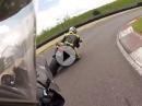 Brandsalbe verteilt: BMW R1200GS vs. Ducati Panigale. Kuh im Nacken