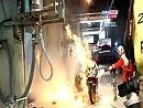 Brandunfall in der Box bei den 24 Stunden von Le Mans 2010