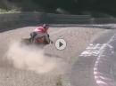 Geiler Save im Kiesbett: Motocross Einlage, Beinah Crash, Nordschleife mit brauner Kombi