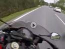 Brutal: Honda Wheelie geht schief: Übles Lenkerschlagen, Crash, Glück im Unglück