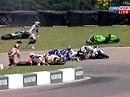 BSB 09 Crash in Mallory Park mit 7 Motorrädern