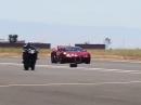Bugatti Veyron vs. Kawasaki H2R: Der Käfig kann nix :-) :-)
