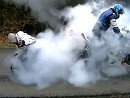 Burnout im Zweierpack. Pocketbike vs Superbike