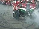 Burnout in Front Ducati Monster Festa Ducati Nürburgring