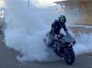 Burnout Kawasaki Ninja H2 - Resteverwertung mit Kompressor Gezwitscher