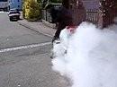 Burnout Versuch mit Suzuki Bandit