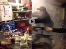 Burnout weggeschmissen - Astra Moped außer Kontrolle