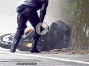 Busa Crash: Fährst Du auf nen Bitumenfleck, ist das Vorderrad schnell weg