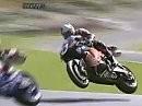 Cadwell Park - The Mountain: Jonathan Rea und Leon Haslam lassen es fliegen - im wahrsten Sinne des Wortes. Great Jump!