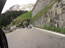 Campolongo Pass von Corvara nach Arabba