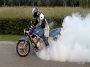 Honda CB-1 Burnout