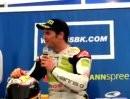 Carlos Checa talks Valencia last corner crash Valencia