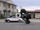 CHEF yesss: Harley Burnout, Harley Wheelie, artgerecht Schwermetall bewegt