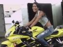 Cheryl Echevarria Biker Girl - manchmal stört Leder