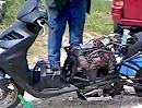 China Motorroller mit Suzuki Bandit Vierzylinder Motor