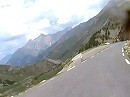 Cime de la Bonette, Col de Restefond Abfahrt mit Triumph Sprint ST 1050