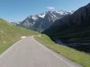 Col d Agnel (Franz.Alpen) mit der Harley