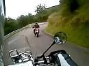 Col de Fouchy Süd nach Nord von der Passhöhe nach unten nach Fouchy