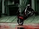 Coole Kawasaki Scooter Werbung den Z-er Roller