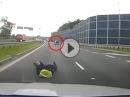 Crash - abgedrängt, ausgebremst, Leben riskiert, Fahrerflucht  - Arschloch