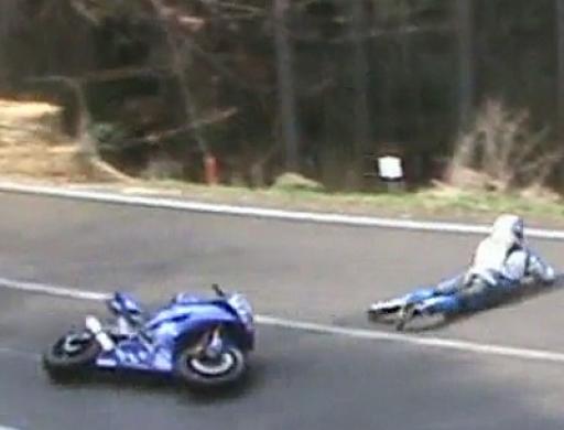 Crash Bergrennen Landshaag - auf dem Bauch durch die Kurve