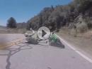 Crash Bitumen Hinterradrutscher: Zu früh am Gas taugt selten was