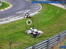 Crash BMW S1000RR wegen Kühlwasser im Brünnchen Nürburgring Nordschleife