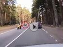 Crash durch 'Reifenflug' - wenns scheisse läuft .... Kismet