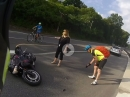 Crash: Fahrrad, Motorrad, Auto - wer hat schuld?
