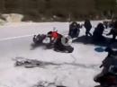 Crash, Gruppe abgeräumt :-( Wenn man am Treff den Affen macht :-(