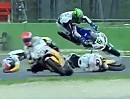 Böser Crash Guintoli & Davies SBK-WM Imola 2012 im ersten Rennen