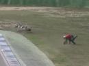 Crash Hockenheim 6.9. Touristenfahrten Sachskurve zu früh am Hahn