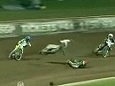 Crash im Head 19 beim Slovenia Speedway GP, Krsko 2009