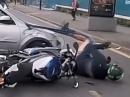 Crash in's Auto. Mit so einem Einschlag muss man rechnen