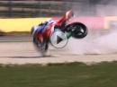 Crash - Kernschrott Jacobsen, Honda WSSP 2016 Aragon