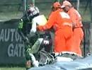 Crash Max Neukirchner in Lauf 1 und 2 in Brünn bei der Superbike WM