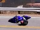 Crash - nicht schnell aber teuer! Ausrutscher mit Yamaha R6 in die Leitplanken