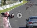 Crash Nürburgring und vor Auto (noch) weggerutscht