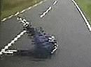 Motorradunfall: Speed Überschuß - 'Straße ausgegangen'
