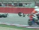 Crash Superstock 1000 (STK) Imola 2012 Motorrad zerschellt an Boxenmauer (Heber Pedrosa)