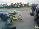 Crash Valentino Rossi - Barcelona MotoGP
