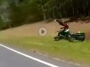 Crash weil Kurve ausgegangen. Mit Schräglage wäre das nicht passiert.