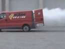 Crazy: Supermoto vs. Transporter - Rolling Burnout