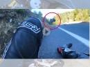 Böser Suzuki Crash - Lowsider, üble Flugkurve, Schrott, Fahrer ok
