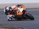 Crosser Tony Cairoli testet die MotoGP KTM RC16 in Valencia