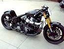 Custombike, Drag Bike mit Turboaufladung - böser Umbau und geiler Turbo-Sound